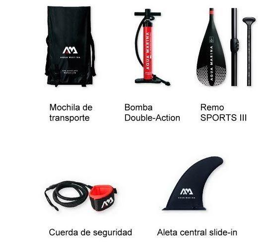 accesorios paddle surf aquamarina